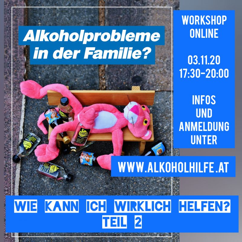 Flyer Workshop: Alkoholprobleme in der Familie?