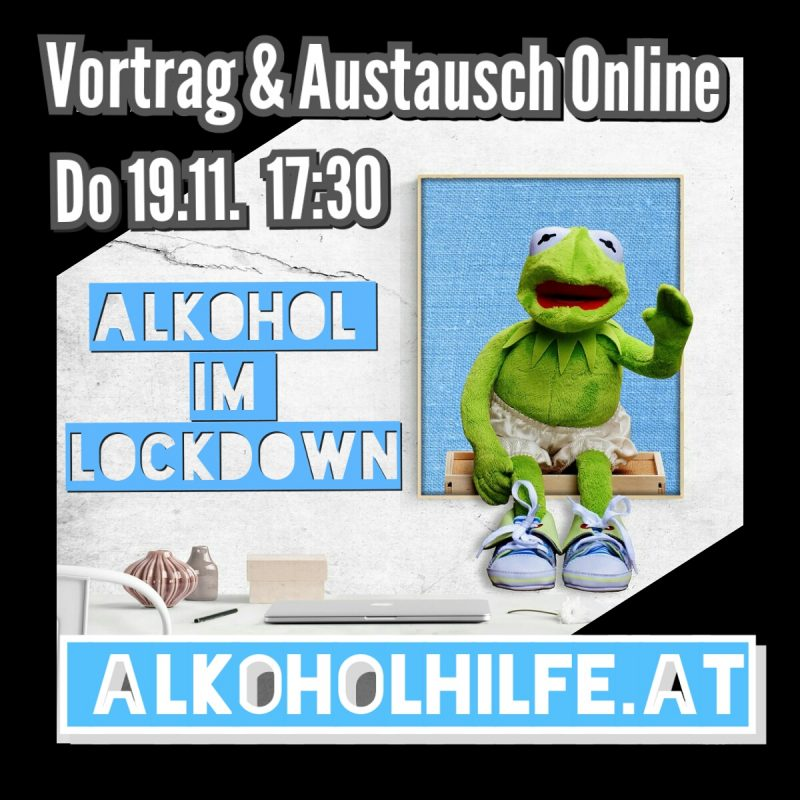 Flyer Alkohol im Lockdown - Kermit Homedesk