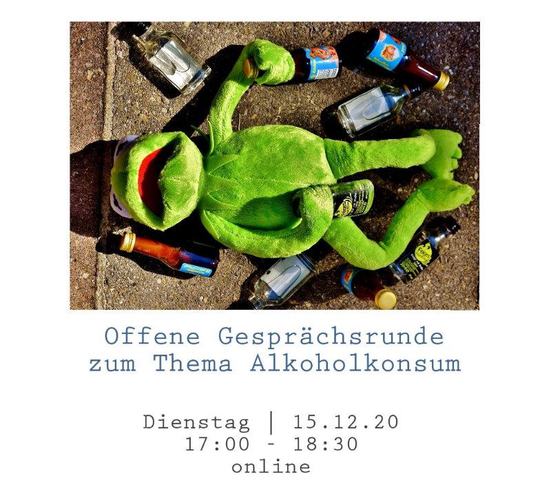 Kermit am Boden mit Flaschen